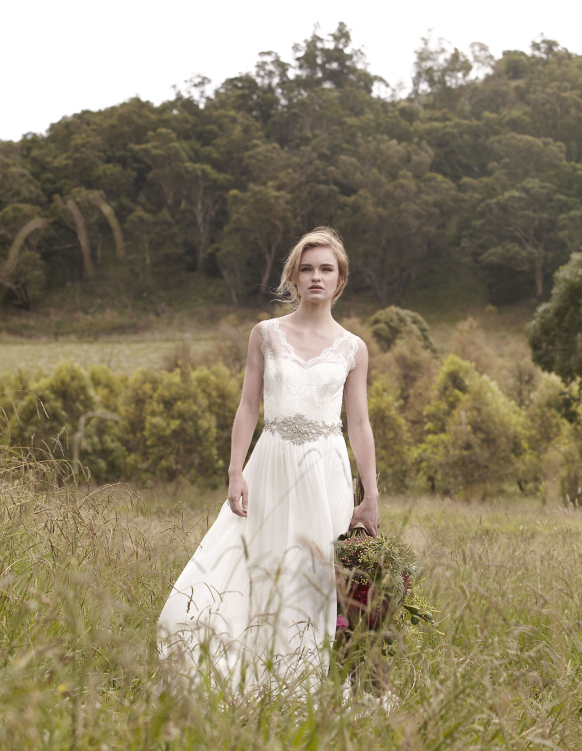 Gown by Lilli Marcs 9357 4408 / lillimarcs.com.au Bouquet by Form Over Function