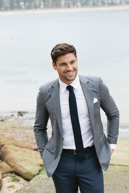 Suit, jacket, shirt, tie and belt by REMBRANDT 1800 736 272 / rembrandt.co.nz Suit pants by Rhodes & Beckett / rhodesbeckett.com.au