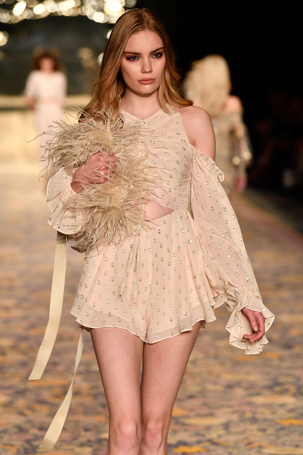 SYDNEY, AUSTRALIA - MAY 15:  A model walks the runway during the Alice McCall show at Mercedes-Benz Fashion Week Resort 18 Collections at Carriageworks on May 15, 2017 in Sydney, Australia.  (Photo by Stefan Gosatti/Getty Images)