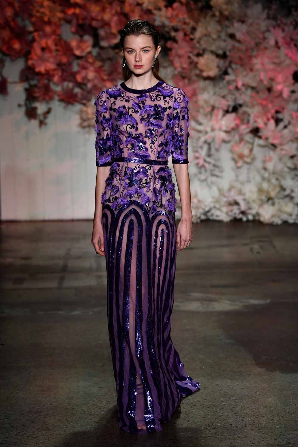 SYDNEY, AUSTRALIA - MAY 15: A model walks the runway during the Steven Khalil show at Mercedes-Benz Fashion Week Resort 18 Collections at Elston Room on May 15, 2017 in Sydney, Australia. (Photo by Stefan Gosatti/Getty Images)